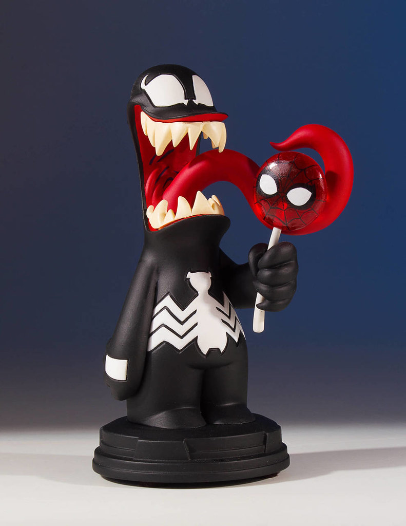 蜘蛛人臉的棒棒糖吃起來會很彼得嗎?!Gentle Giant Marvel Comics【猛毒】Venom Animated Statue