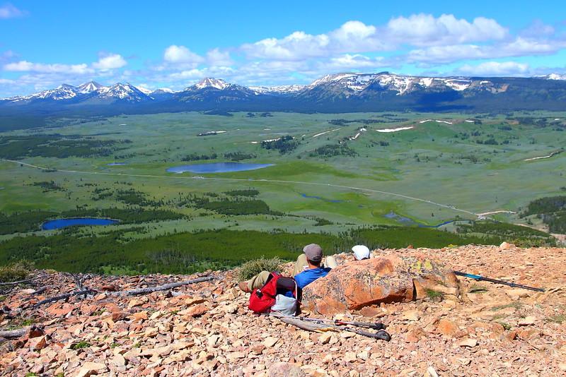 IMG_0657 Swan Lake Flats and Gallatin Range from Bunsen Peak