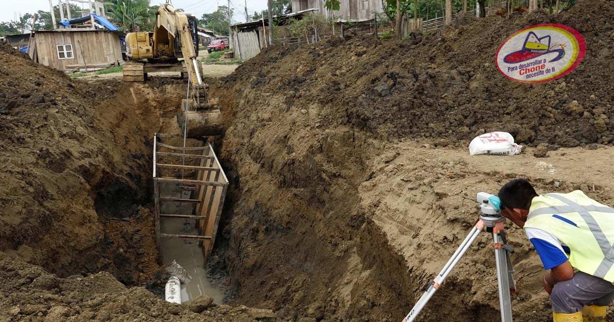 65% es el avance en trabajos del alcantarillado sanitario y pluvial de tres ciudadelas