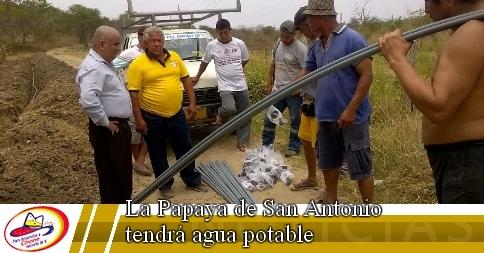 La Papaya de San Antonio tendrá agua potable