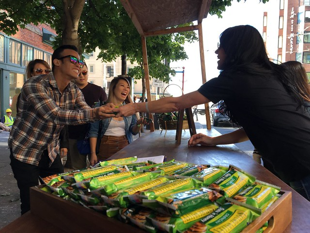 A pop-up park with granola bars