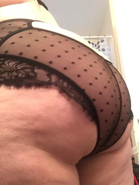 Black lace panties
