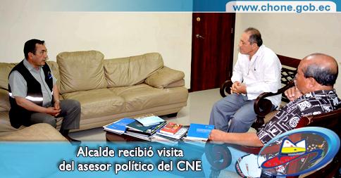 Alcalde recibió visita del asesor político del CNE