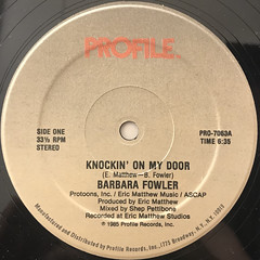 BARBARA FOWLER:KNOCKIN' ON MY DOOR(LABEL SIDE-A)