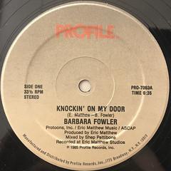 BARBARA FOWLER:KNOCKIN' ON MY DOOR(LABEL SIDE-A)