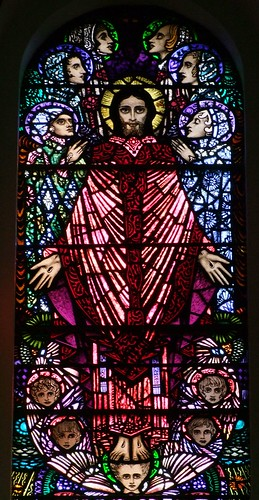 Newport, County Mayo, St Patricks Church, Harry Clarke stained glass, detail