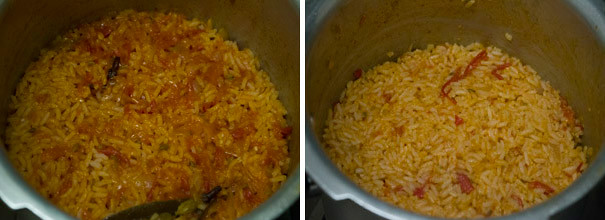 Tomato Rice | Tomato Biriyani cooking steps by GoSpicy.net