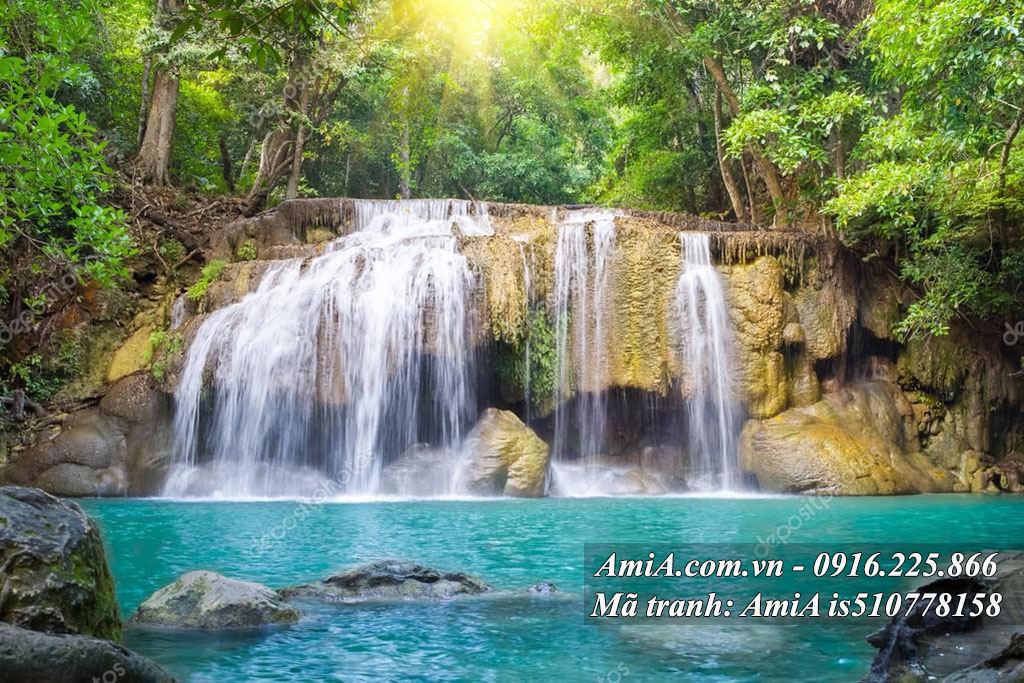 Tranh treo tường phong thủy thác nước đẹp