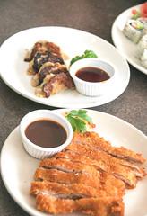 Chicken Katsu & Potstickers