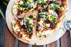 Grilled BBQ Lentil Pizza