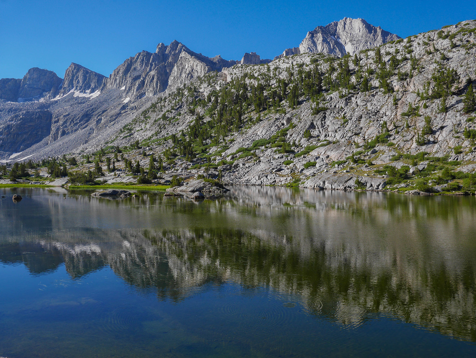 Lower Dusy Basin lake