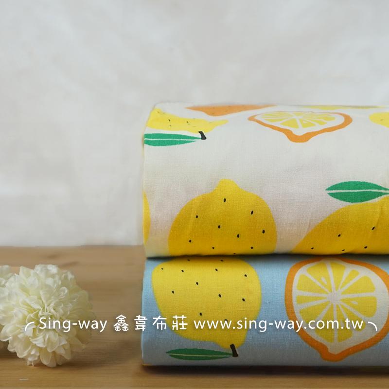 黃檸檬 水果 田園風 清晰 可愛 植物 夏季服裝布料 CH790531