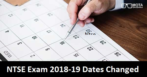 ntse exam 2018 dates changed