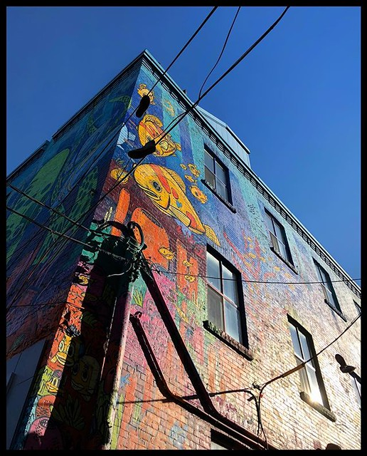 Shoes, shadows, wires and paint. Graffiti Alley Toronto, Canada  #graffiti #graffitialley #toronto #canada