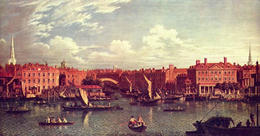 Samuel_Scott_Entrance to river Fleet, 1750