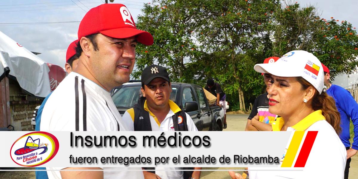 Insumos médicos fueron entregados por el alcalde de Riobamba