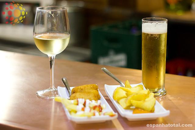 bebidas típicas de Madri: cerveja
