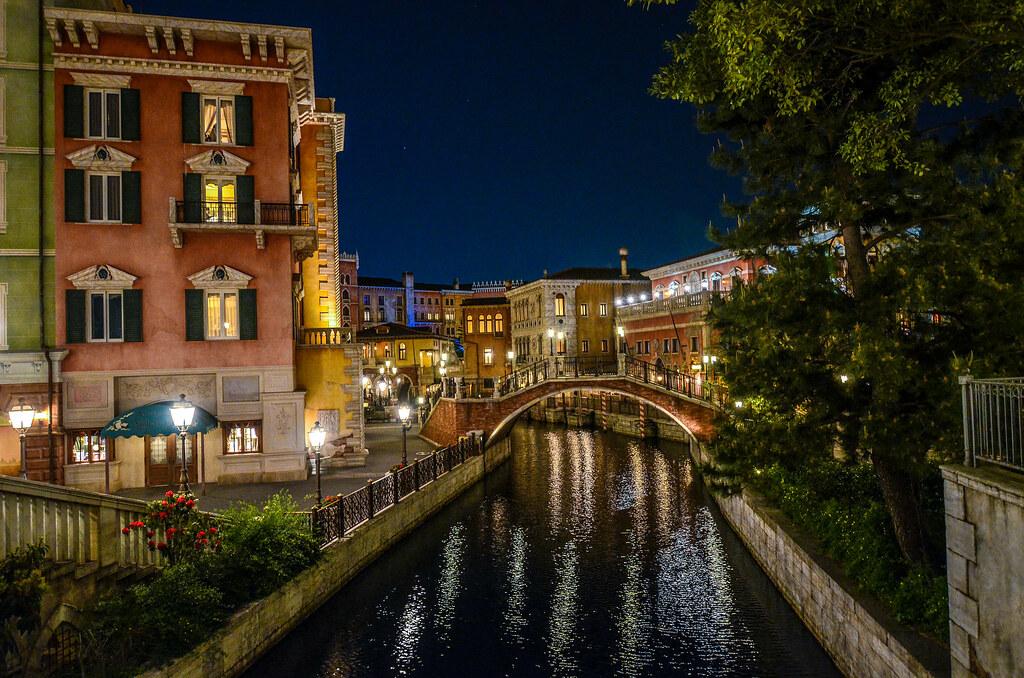 Mediterranean Harbor alley canal night TDS