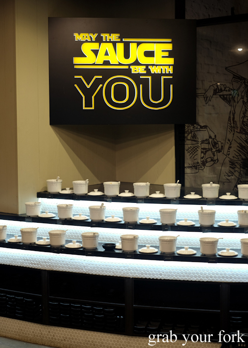 Star Wars sauce station May the Sauce Be with You at Hotpot City in Bankstown