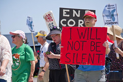Protesting the Soon to be Built Foxconn Electronics Plant Mt. Pleasant Wisconsin 6-28-18  2091