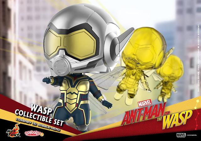 蟻人跟黃蜂女的玩具,各種尺寸都要收啊~ Hot Toys – COSB489 - COSB492 –《蟻人與黃蜂女》Ant-Man and the Wasp Cosbaby (S) Bobble-Head Series