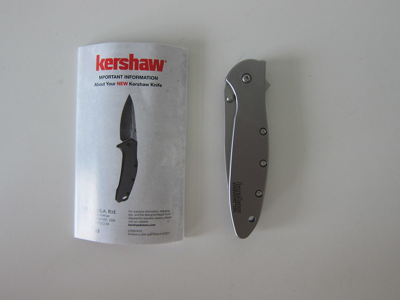 Kershaw 1660 Ken Onion Leek Knife - Box Contents