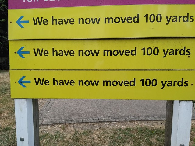 We have now moved 100 yards.