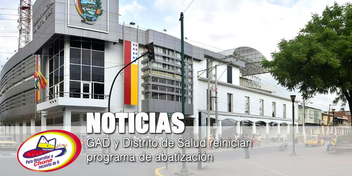 GAD y Distrito de Salud reinician programa de abatización