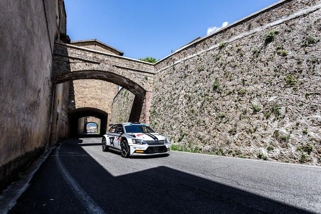 08 Orhan Avcioglu (TUR), Burcin Korkmaz (TUR), Toksport WRT, SKODA FABIA R5, action during the 2018 European Rally Championship ERC Rally di Roma Capitale,  from july 20 to 22 , at Fiuggi, Italia - Photo Thomas Fenetre / DPPI