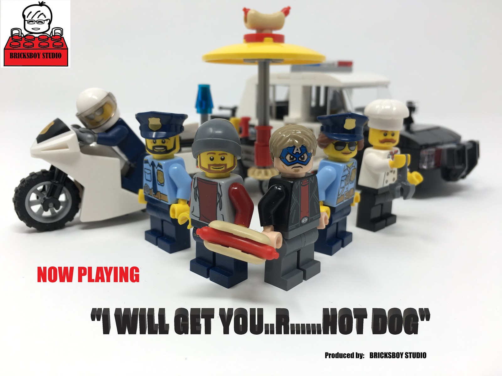 "LEGO Stop Motion Film-""I Will Get You..r......Hot Dog"""