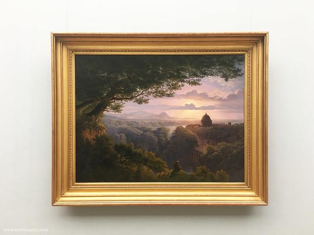 Landschaft mit Pilger, Karl Friedrich Schinkel. Alte Nationalgalerie