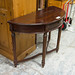 Mahogany half-moon hall table E150
