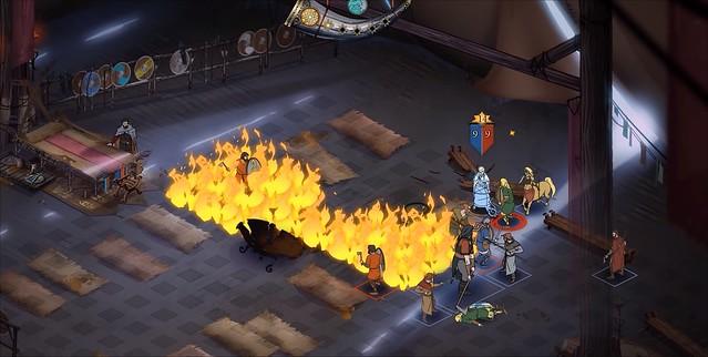 Banner Saga 3 - Tent Fire