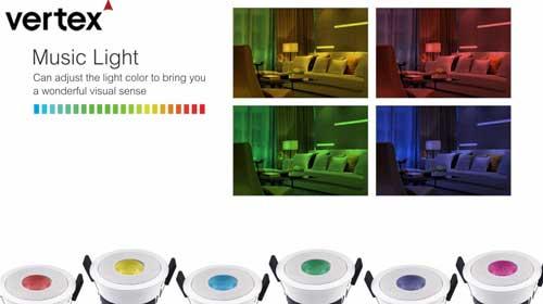Vertex smart music light