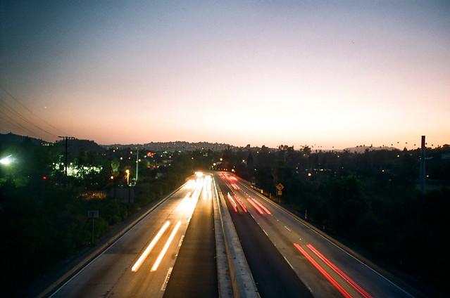 pasadena freeway sunset.