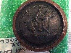 Society of Medalists Pony Expres medal obverse wax mold