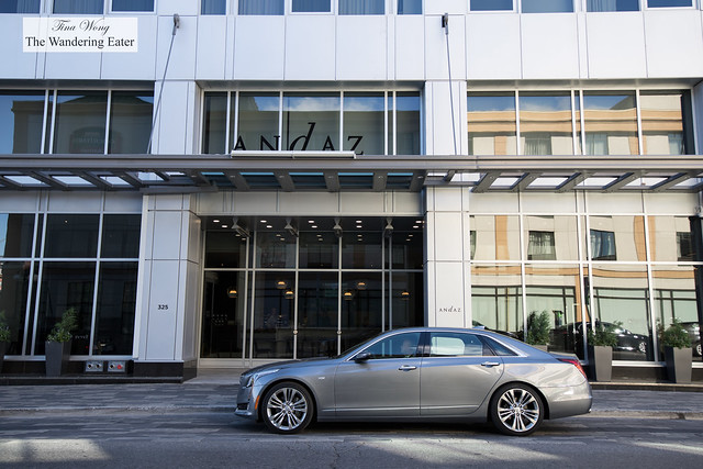 My 2018 Cadillac CT6 Platinum car in front of where we will call home in Ottawa for a few days