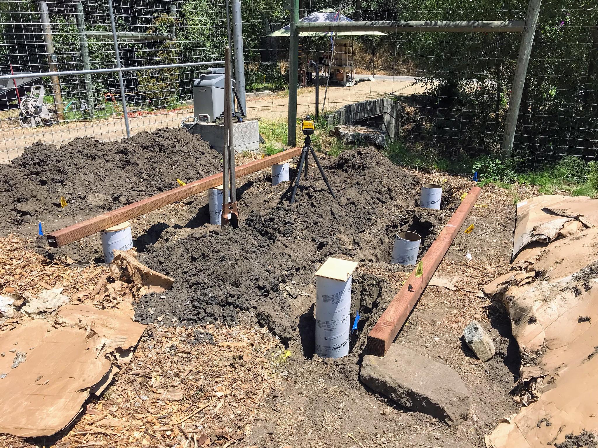 Holes dug