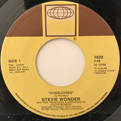 STEVIE WONDER:OVERJOYED(LABEL SIDE-A)