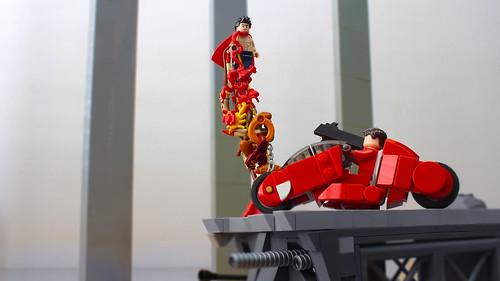 Lego Kaneda's bike from Akira