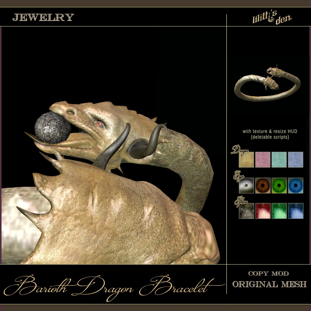 LD Barioth Dragon Bracelet