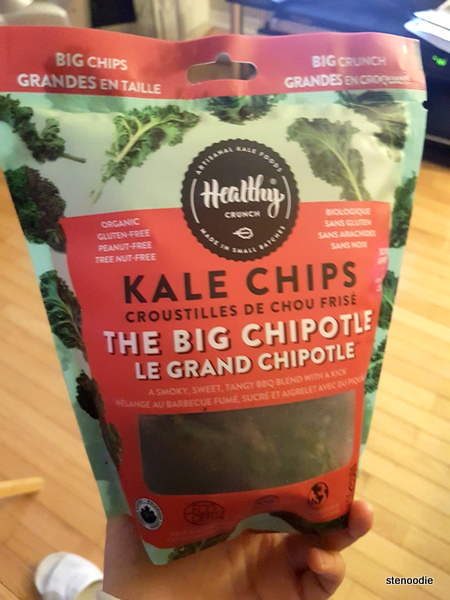 Healthy Planet chipotle kale chips