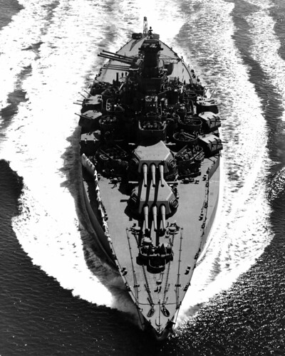 USS Tennessee (BB-43), underway on 12 May 1943.