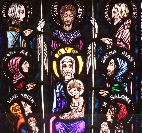 Ballinrobe, County Mayo, glass by Harry Clarke, Our Lady and Child