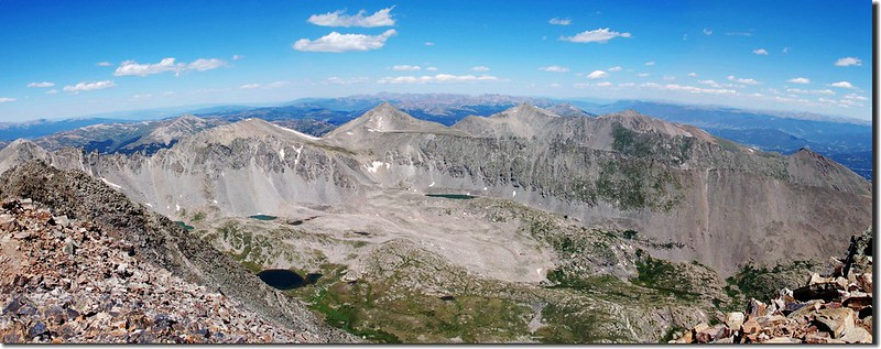 View to northwest from the summit of Quandary Peak (2)