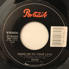 SADE:HANG ON TO YOUR LOVE(LABEL SIDE-A)