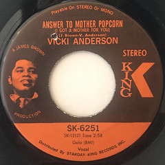 VICKI ANDERSON:ANSWER TO MOTHER POPCORN(LABEL SIDE-A)