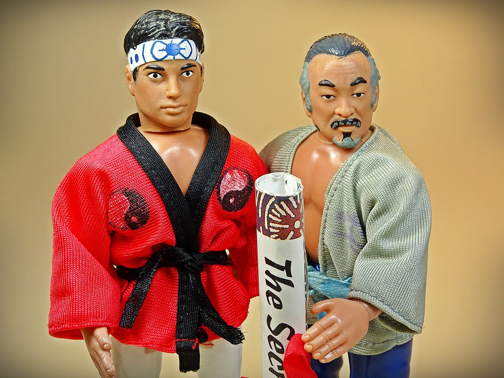 ... Remco – Vintage Tri-Action The Karate Kid Series Figures –