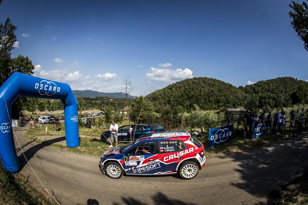 07 Grzegorz Grzyb (POL), Jakub Wrobel (POL), Rufa Sport, SKODA FABIA R5, during the 2018 European Rally Championship ERC Rally di Roma Capitale,  from july 20 to 22 , at Fiuggi, Italia - Photo Gregory Lenormand / DPPI