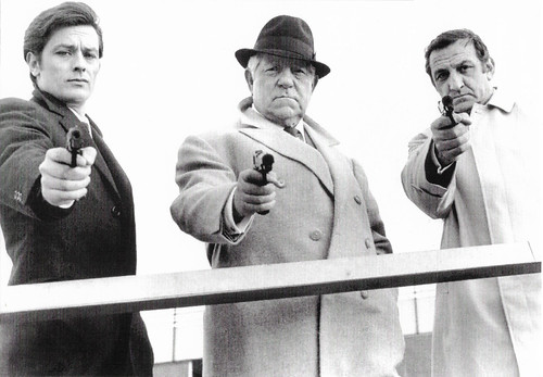 Alain Delon, Jean Gabin and Lino Ventura in Le clan des Siciliens (1969)